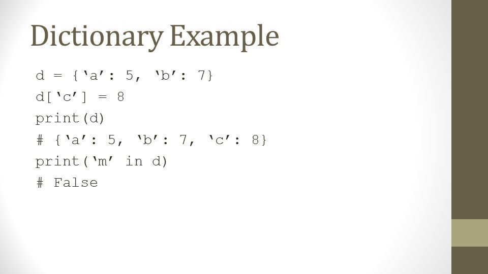 Lists/Dictionaries. What we are covering Data structure basics ...