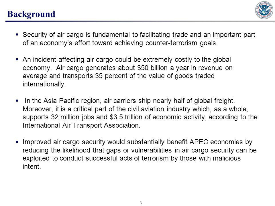 APEC Second Air Cargo Security Workshop Summary Report - ppt download