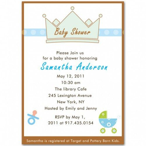baby carriage baby boy shower invitations bs103