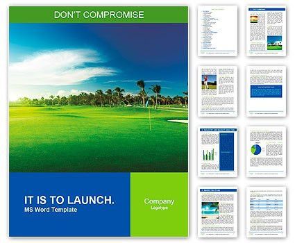 Golf course Word Template & Design ID 0000010057 - SmileTemplates.com