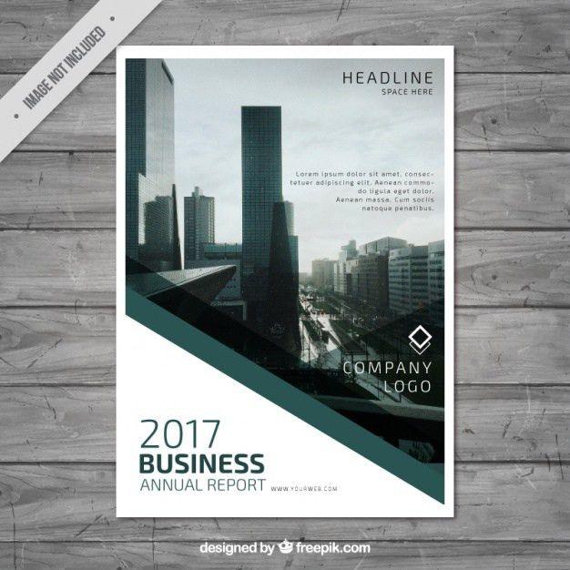 Annual report template design Vector | Free Download