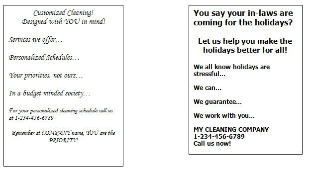 Start up marketing for cleaning companies