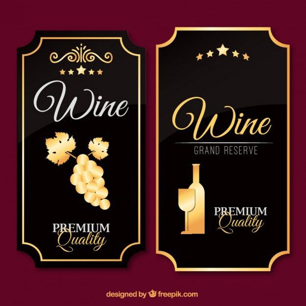 Luxury wine labels in vintage design Vector | Free Download