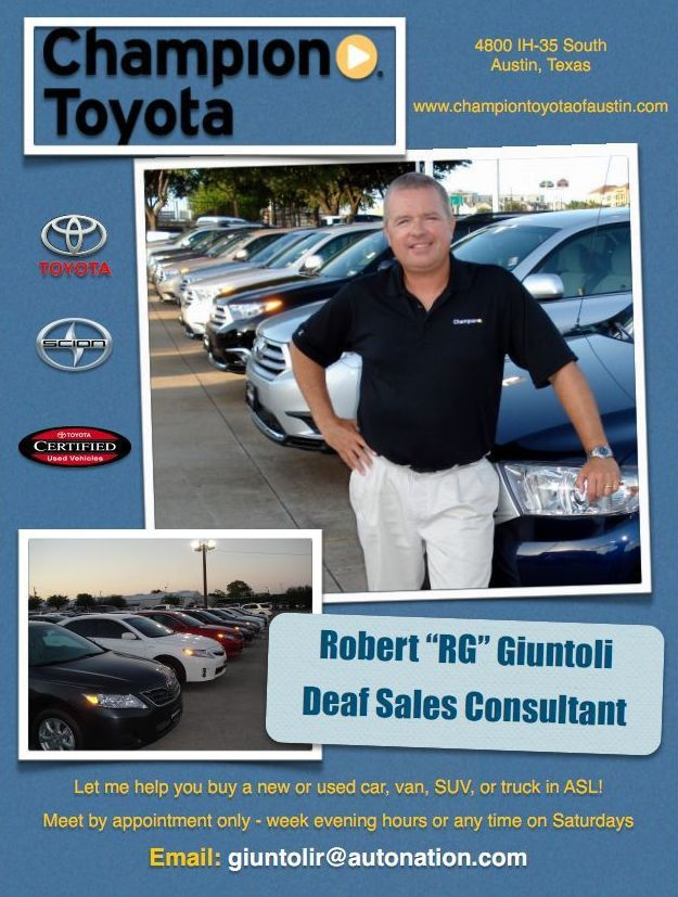 New and Used Cars/Trucks Deaf Sales Consultant – Deaf Network of Texas
