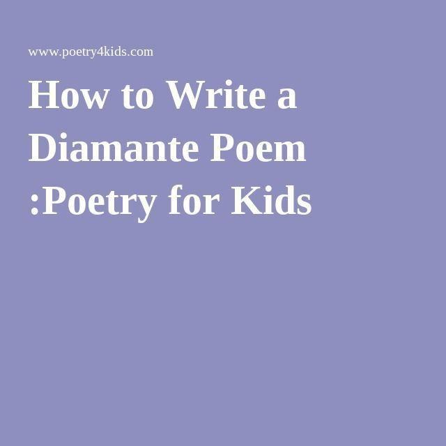Best 20+ Diamante poem ideas on Pinterest   Rhyme meaning, Free ...