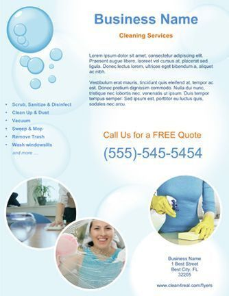 Jenny Cleaning Services Flyer | cleaning service | Pinterest ...