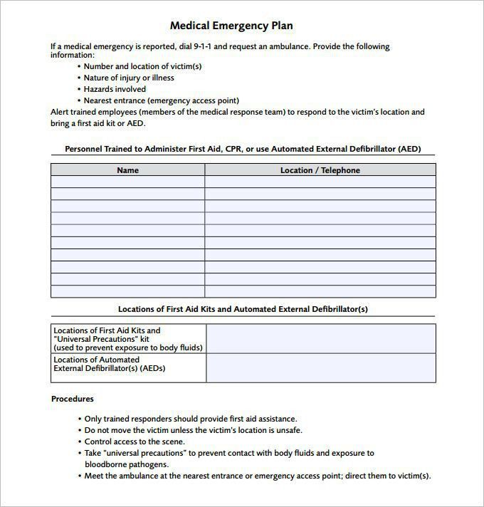Emergency Action Plan Template. Emergency Action Plan | Safetysack ...