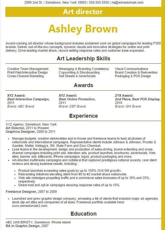 award winning resume samples