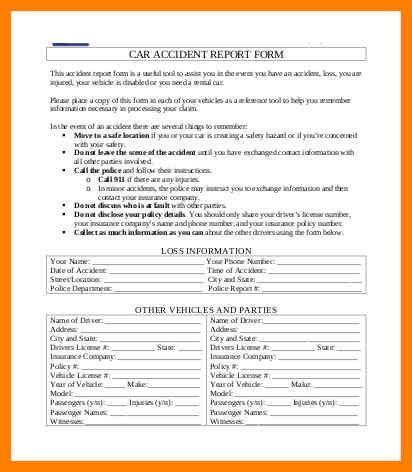 Accident Report Form Template - Ecordura.com