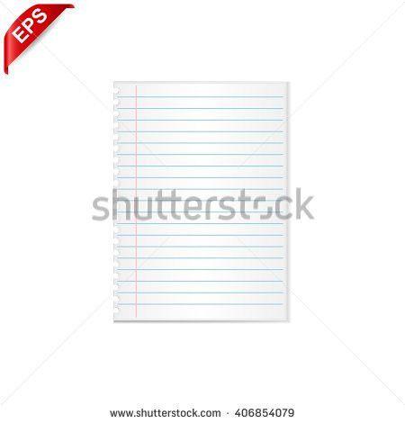 Notebook Paper Vector Notebook Paper Background Stock Vector ...