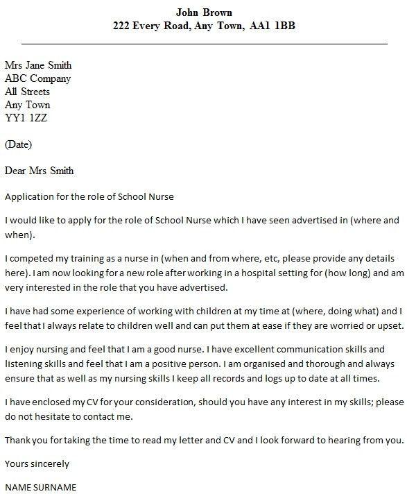 Sample Cover Letter For Nursing Training - Compudocs.us