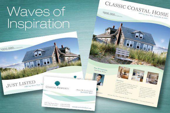 Coastal Real Estate Marketing layouts and templates