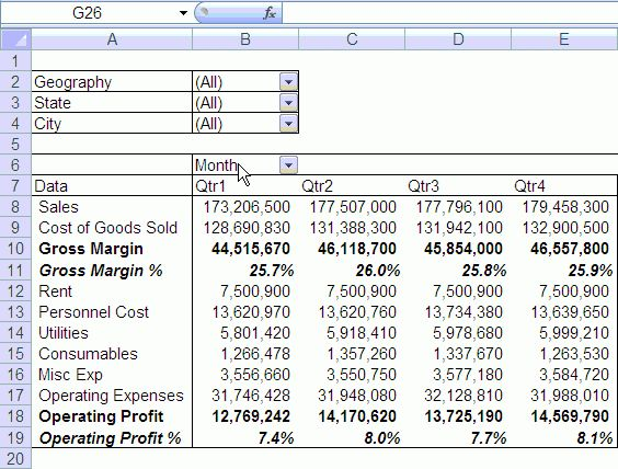 Quarterly & Half-Yearly Profit Loss Reports in Excel [Part 5 of 6 ...