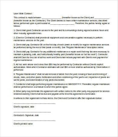 9+ Service Contract Templates   Free Sample, Example, Format .