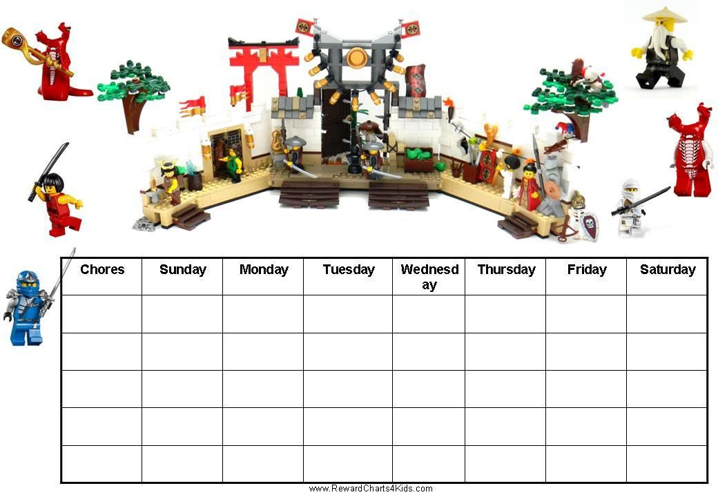 Free Printable Chore Charts with Ninjago