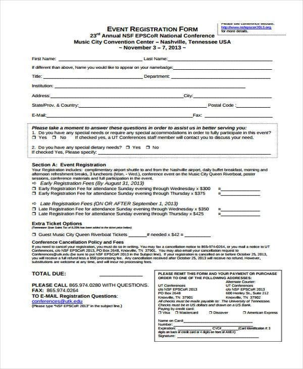 Event Forms in PDF - 33+ Free Documents in Word, PDF