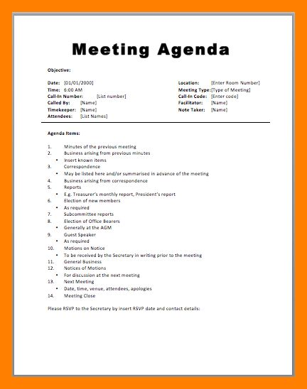7+ staff meeting agenda samples | janitor resume
