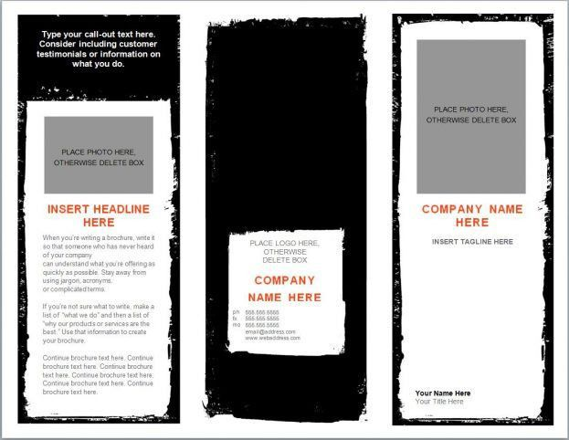 Free Bi Fold Brochure Template Word Sample Business Meeting Agenda ...