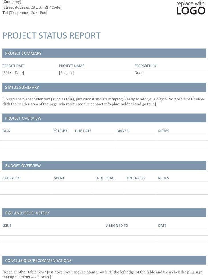 Project Status Report Template | Download Free & Premium Templates ...