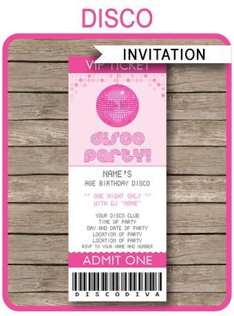 The 25+ best Party tickets ideas on Pinterest | Birthday ideas for ...