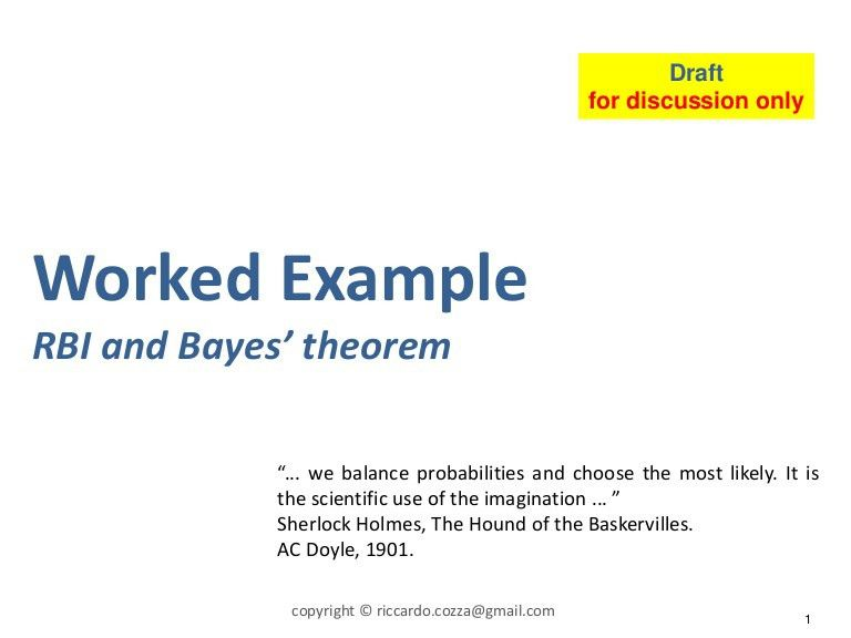 RBI and Bayes' rule