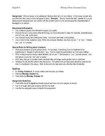 Critical Response Essay Format. critical essay format a literary ...