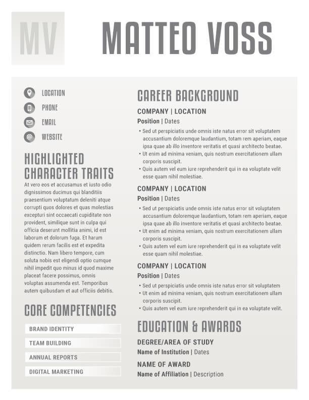 Corporate Resume Template. Get The Resume Template Top Resume ...