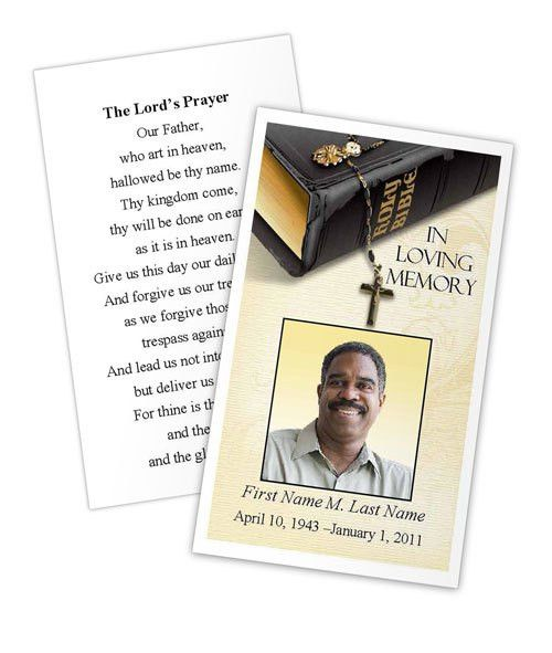 Memorial Prayer Cards | Funeral Prayer Card