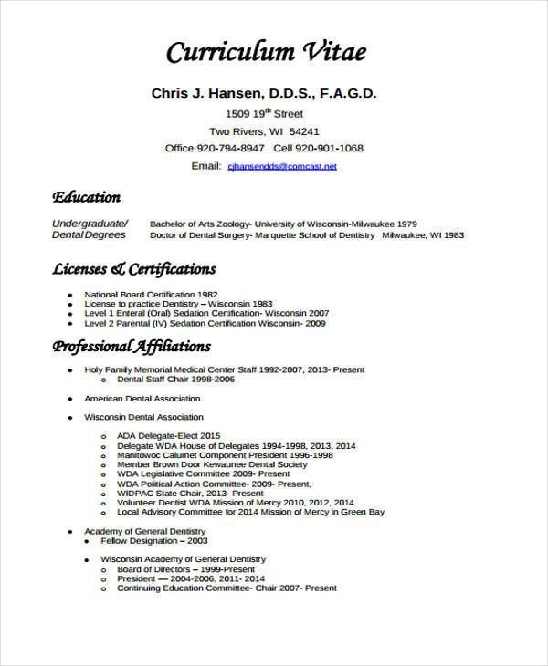 general dentist resume dentist resume samples visualcv resume