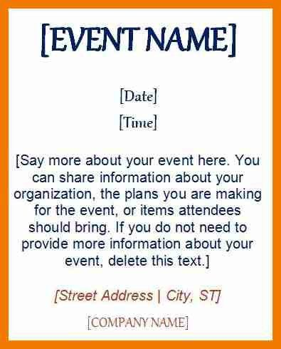 8+ event invitation template | resume holder
