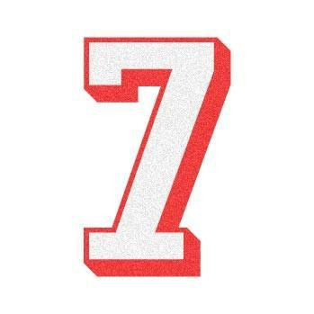 "2 Color 3D Number ""7"" Reflective Decal – The Bravest Decals"