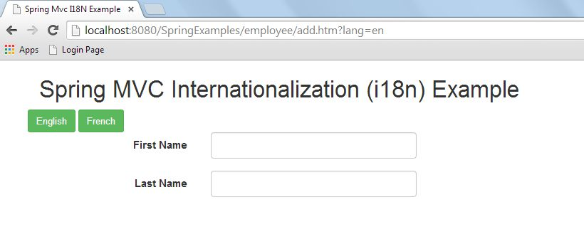 Spring MVC Internationalization I18N Example