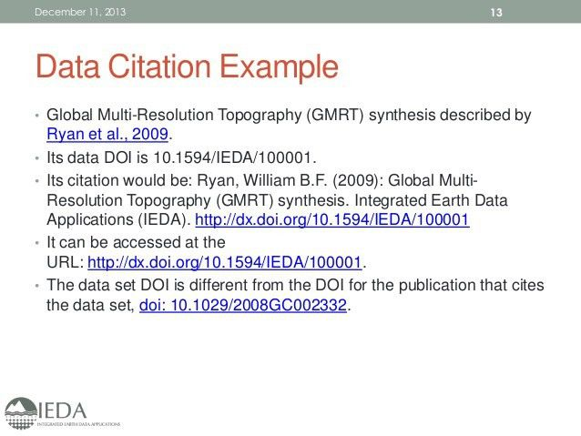 IEDA Data Publication Workshop @AGU