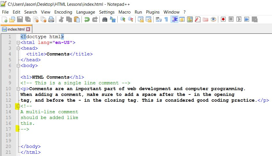 The HTML Comment: Web Development Tutorial Series