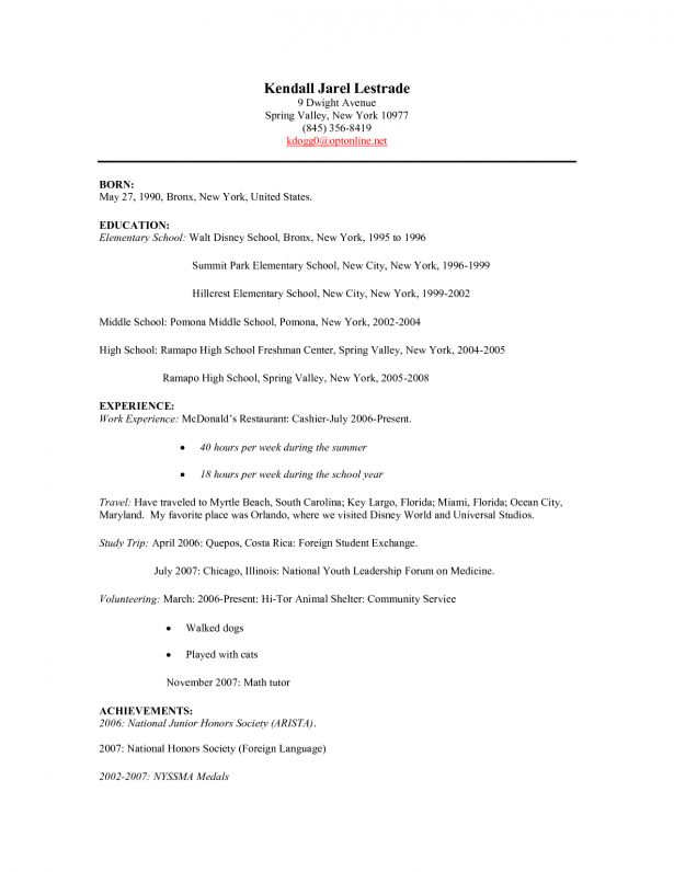 Insurance Agent Resume Template Resume For Cashier Fast Food ...