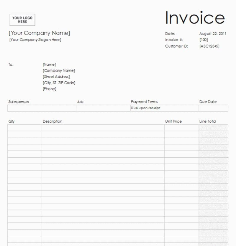 195180281531 - Open Source Invoice Template For Receipt Of Cash ...