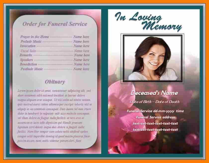 7+ free obituary program template download | hostess resume