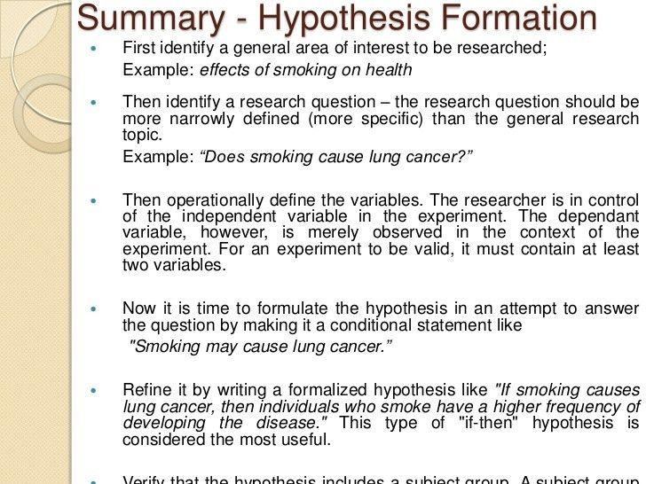 HYPOTHESIS EXAMPLES - alisen berde
