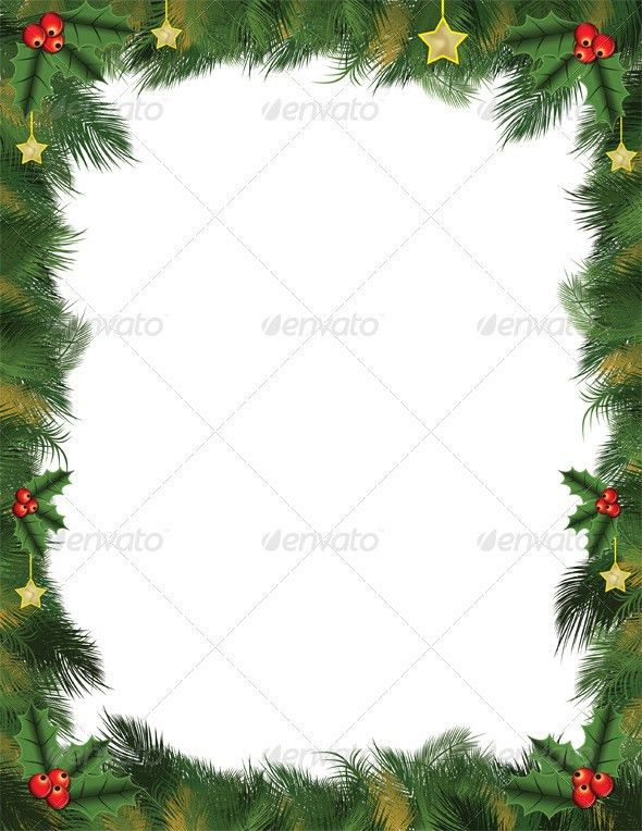 Green Christmas Card Background for Letters and Flyers by ...