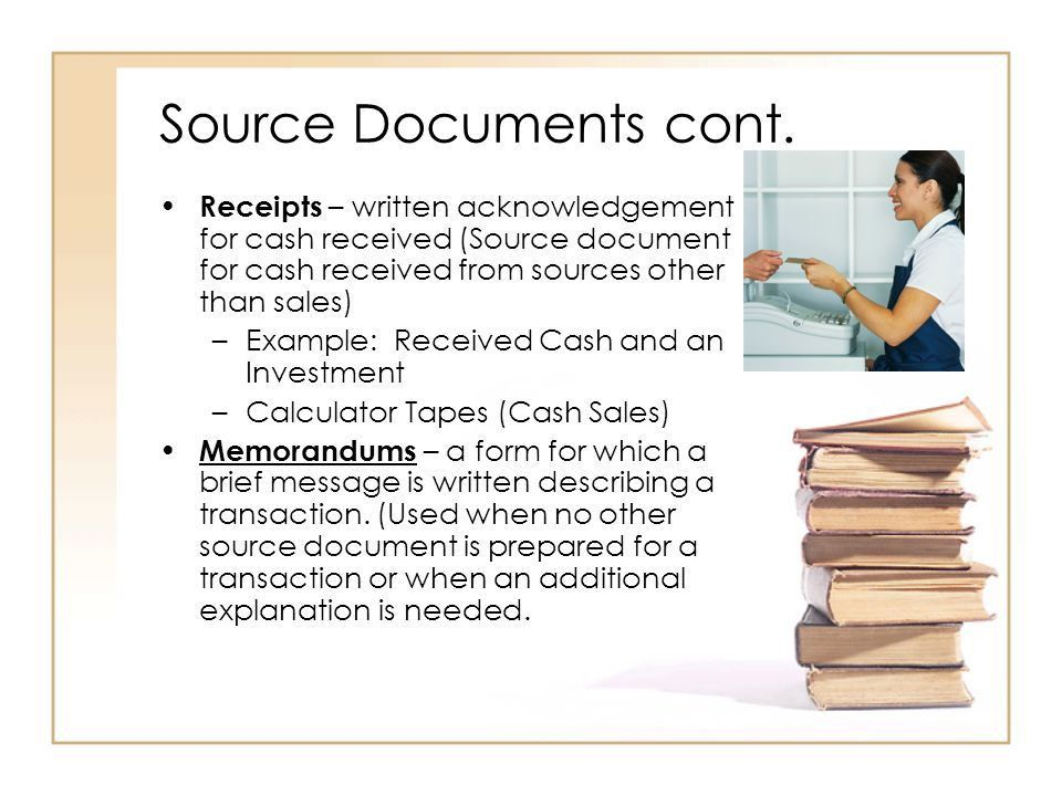 Journals, Source Documents, & Recording Entries in a Journal - ppt ...