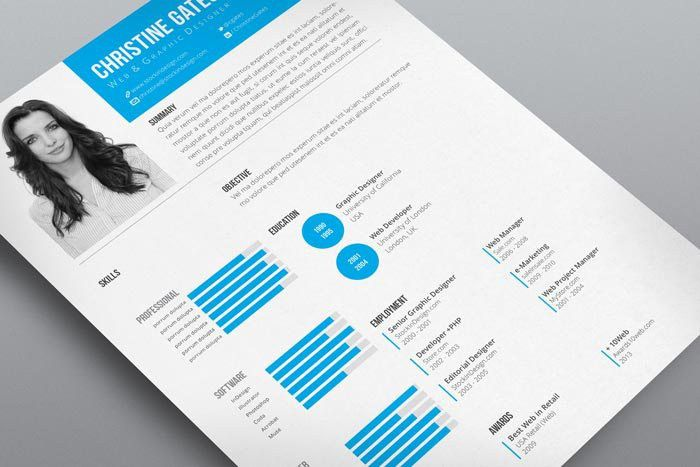 Clean Resume Template | StockInDesign