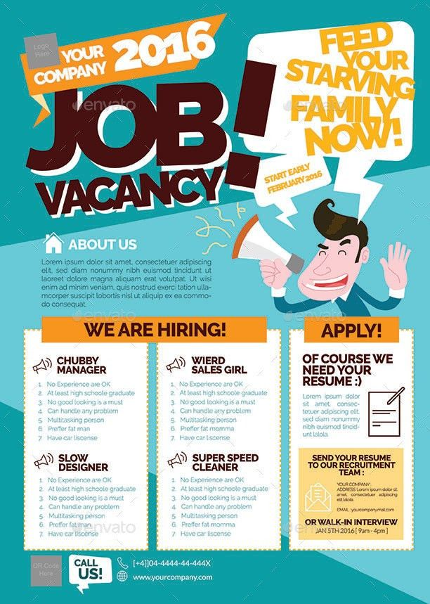 Job Vacancy Flyer | Presentaciones diseños | Pinterest | Flyer ...