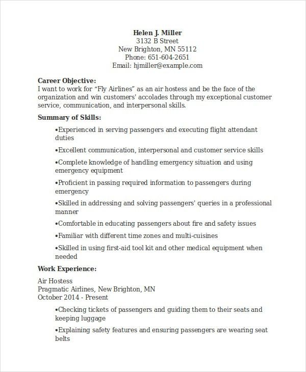 hostess resume examples hostess resume objective template sample ...