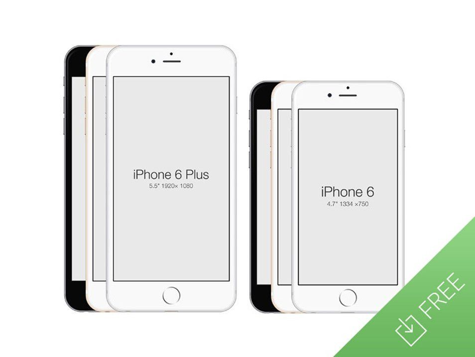 """Collection of Best Free """"iPhone 6"""" Mockup Design Templates"""