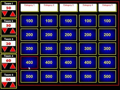 Free Flash Jeopardy Review Generator - can be used as a SmartBoard ...