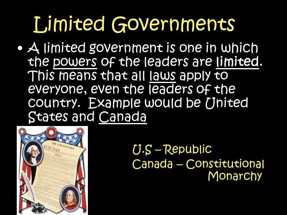 There are many different types of governments around our world ...