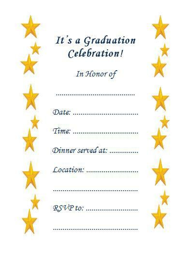 Graduation Party Invitation Templates Free - cloveranddot.Com