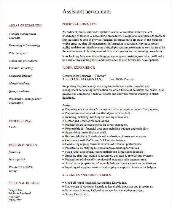 Sample Resume Intermediate Accountant. Resume. Ixiplay Free Resume ...