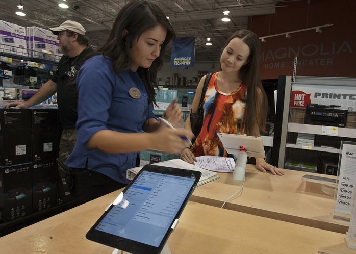 Tax-free holiday's new electronics category brings out shoppers ...
