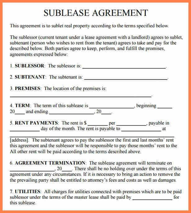 Sublease Agreement. Sublease-Agreement-Rental-Property The ...